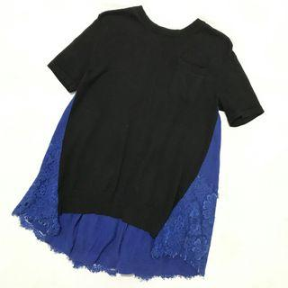 Soft knit top import / atasan blouse rajut korean look murah
