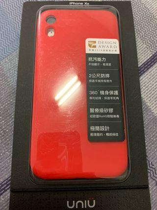 UNIU 紅色 防污防摔矽膠殼 iPhone XR