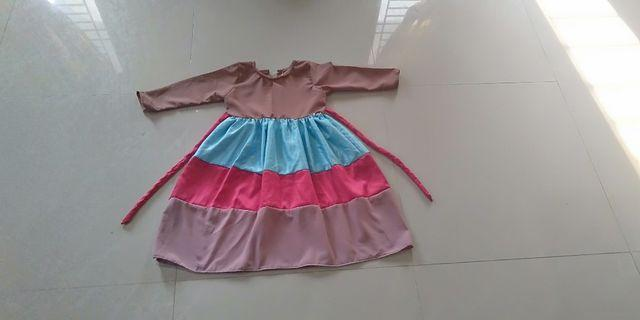 Dress Rainbow anak usia 4 tahun New 35K