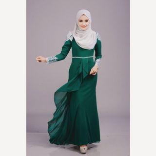 MINAZ Dress Lacey Ayra 2.0 - Emerald Green