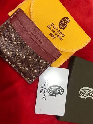 Goyard Paris card wallet red MIRROR 1:1