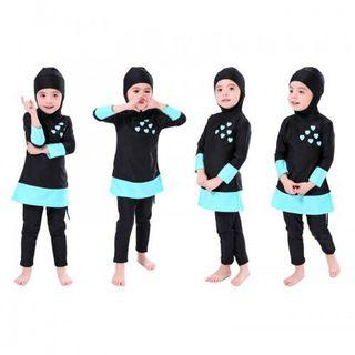 Kids Muslimah Swimsuit Swimwear Baju Renang Muslimah Budak