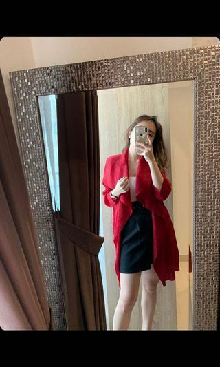 New red pleate outer