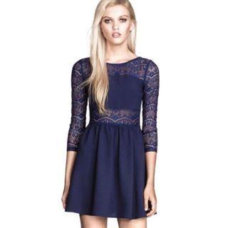 H&M lace back dress