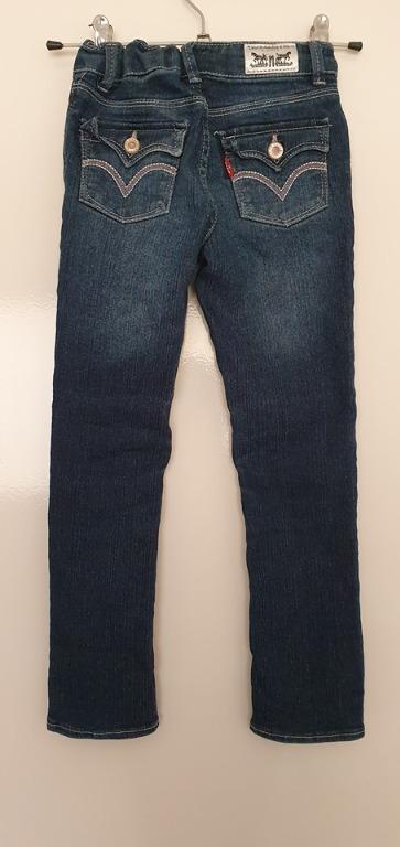 2 pairs girls size 5 6 years Blue denim jeans Levi's Emerson Junior