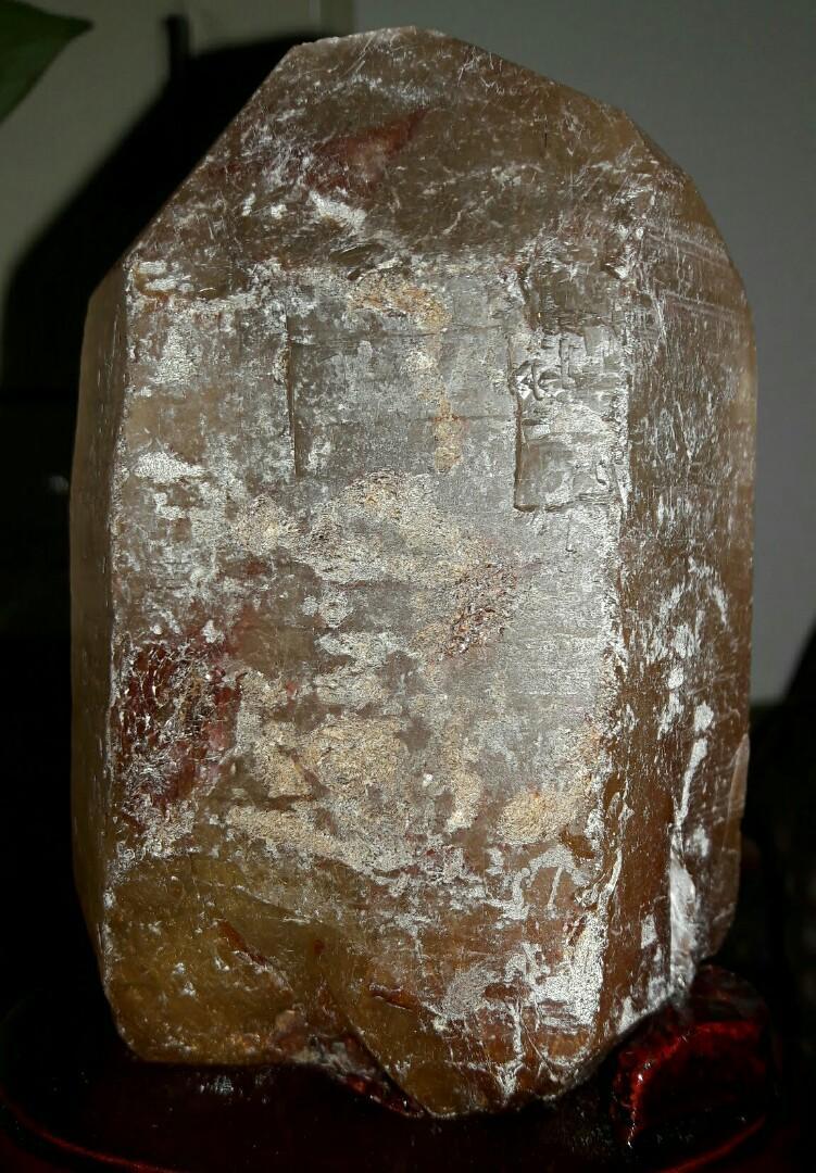 鈦晶原礦,滿絲鈦晶,鈦晶柱絲滿,重850公克高16公分