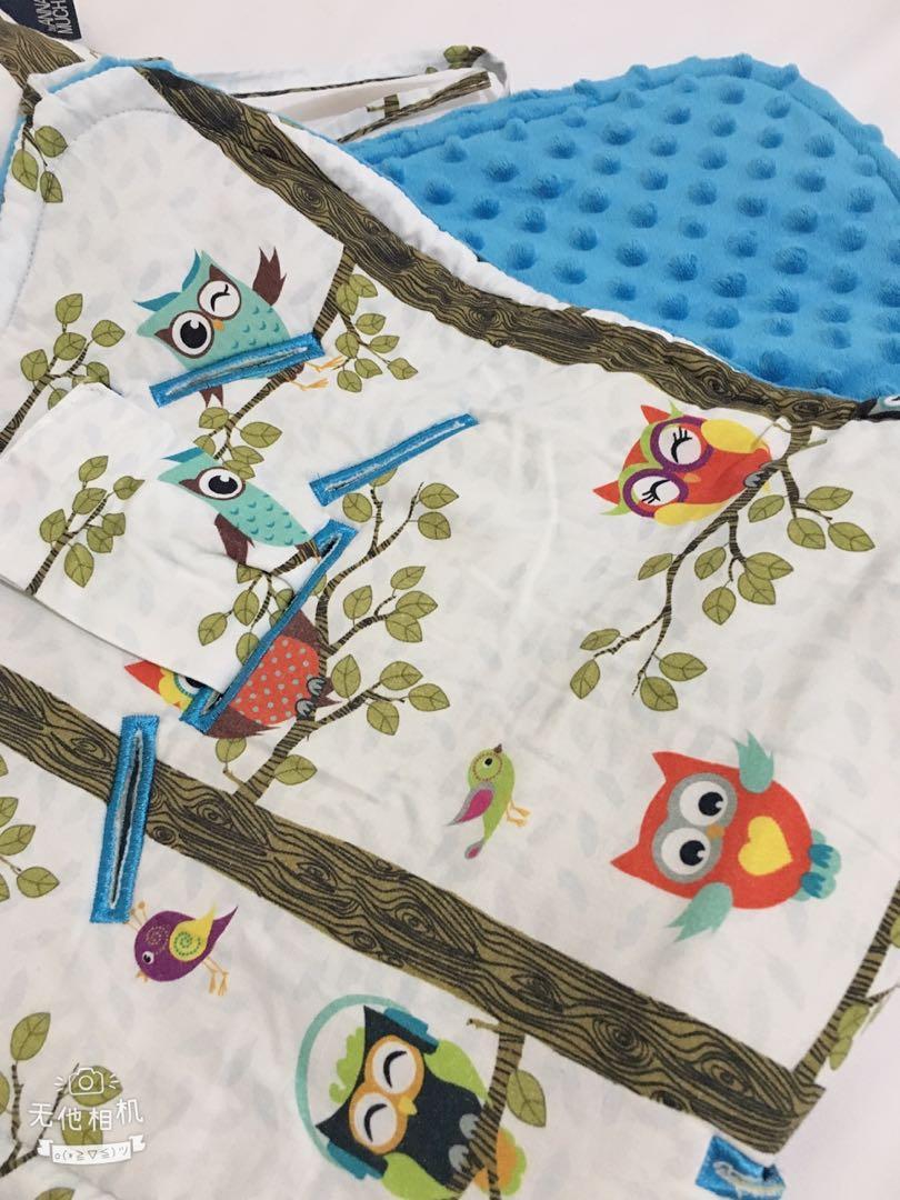 9成新嬰兒車墊子+枕頭