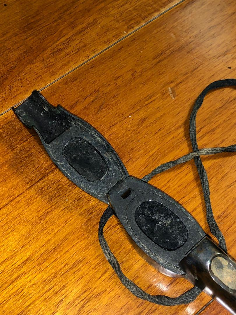 日本時期銅嵌銀絲矢立