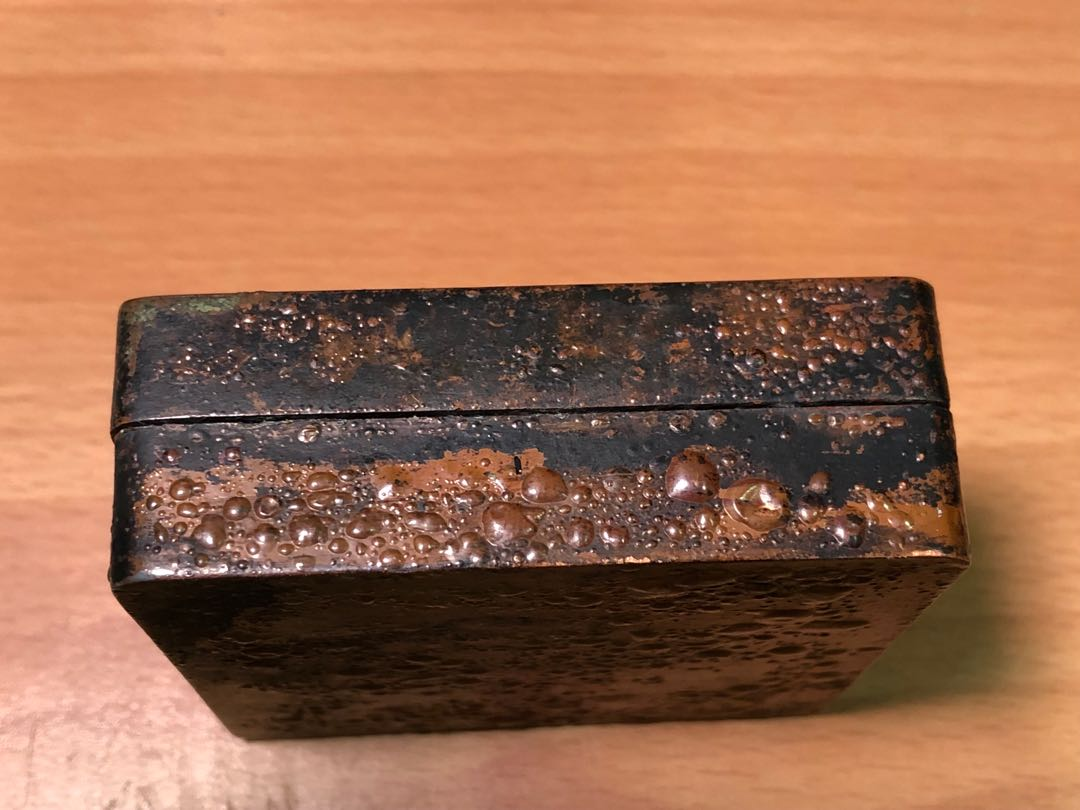 老舊銅墨盒  刻澄心堂帖