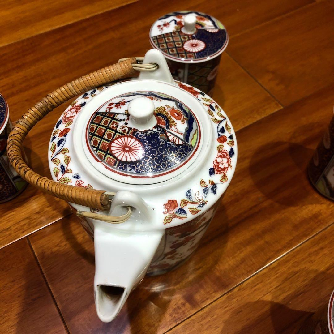 早期大同瓷器外銷特級絕版品 有編號 一壺六杯 伊萬里繪