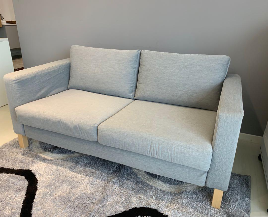 Excellent Condition!! IKEA KARLSTAD Grey Sofa **, Furniture, Sofas On Carousell