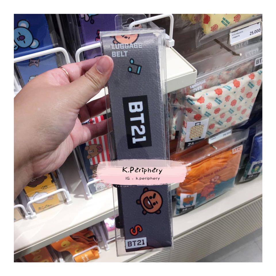 【🇰🇷 PRE-ORDER 】  BT21 x Line Friends Luggage Belt