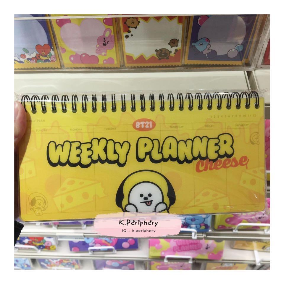 【🇰🇷 PRE-ORDER  】BT21 x Line Friends Weekly Planner