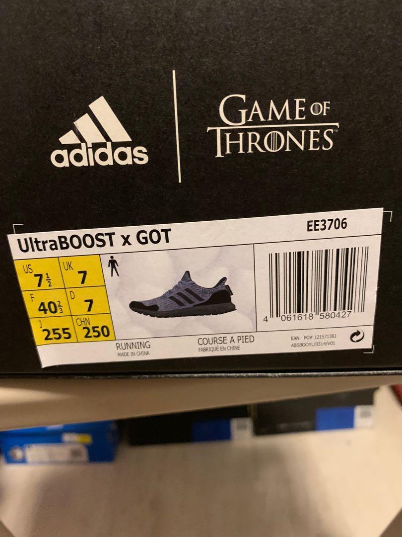 Adidas game of throne black UK7 - $180