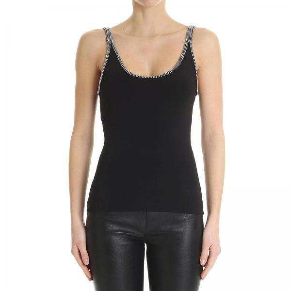 alexander wang bead embellished sleeveless tank top