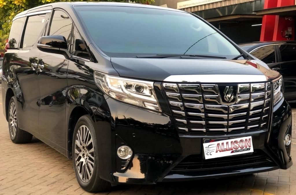 Alphard X 2.5 AT 2017 Black Dp 110,9 Jt No Pol Genap