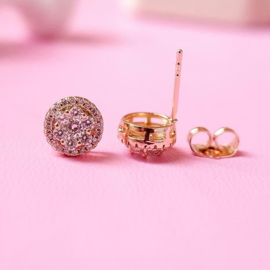Angel flower earrings lapis emas 18k (motif dlm nya bentuk bunga)