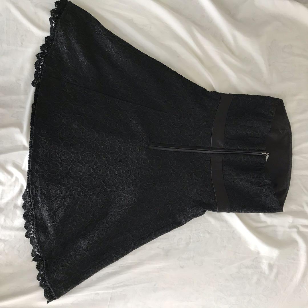 [URGENT] Black Tube Lace Dress