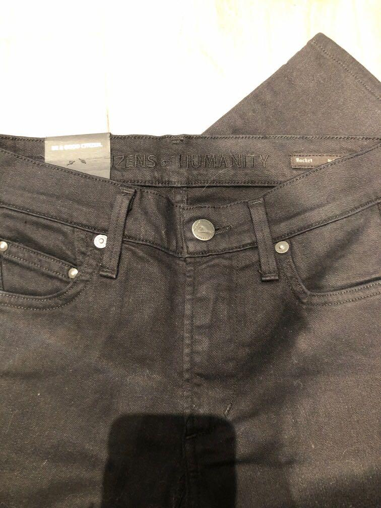 Brand New citizens of humanity rockets high rise skinny black denim size 25