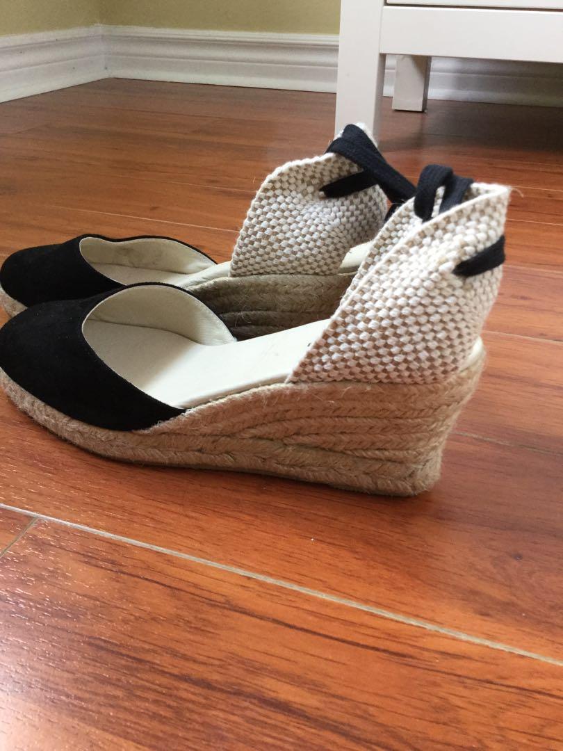 BRAND NEW Reformation Romy suede espadrilles wedge sandals