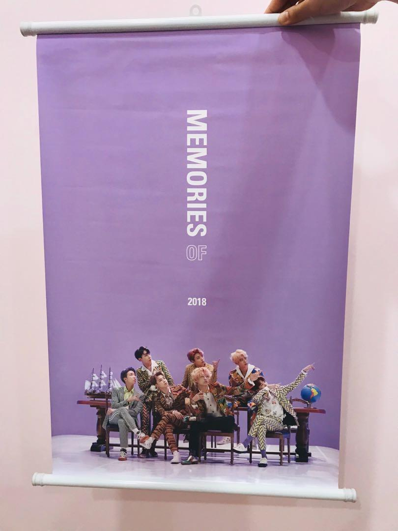 BTS MEMORIES OF 2018 PREORDER GIFT WALL SCROLL