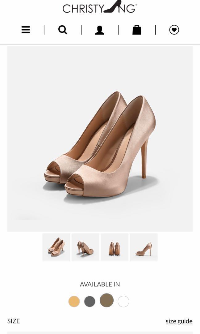 Christy Ng DAISY TAUPE WEDDING HEELS (Authentic)