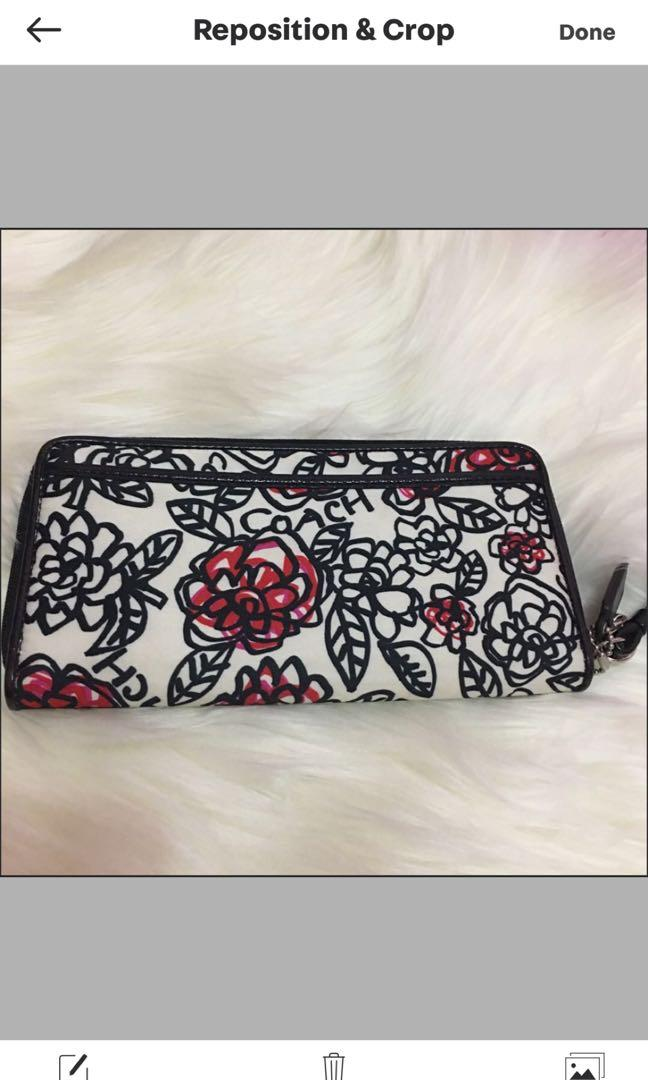 Coach Poppy Floral Graffiti Wristlet Wallet [NEW] SALE DOMPET COACH