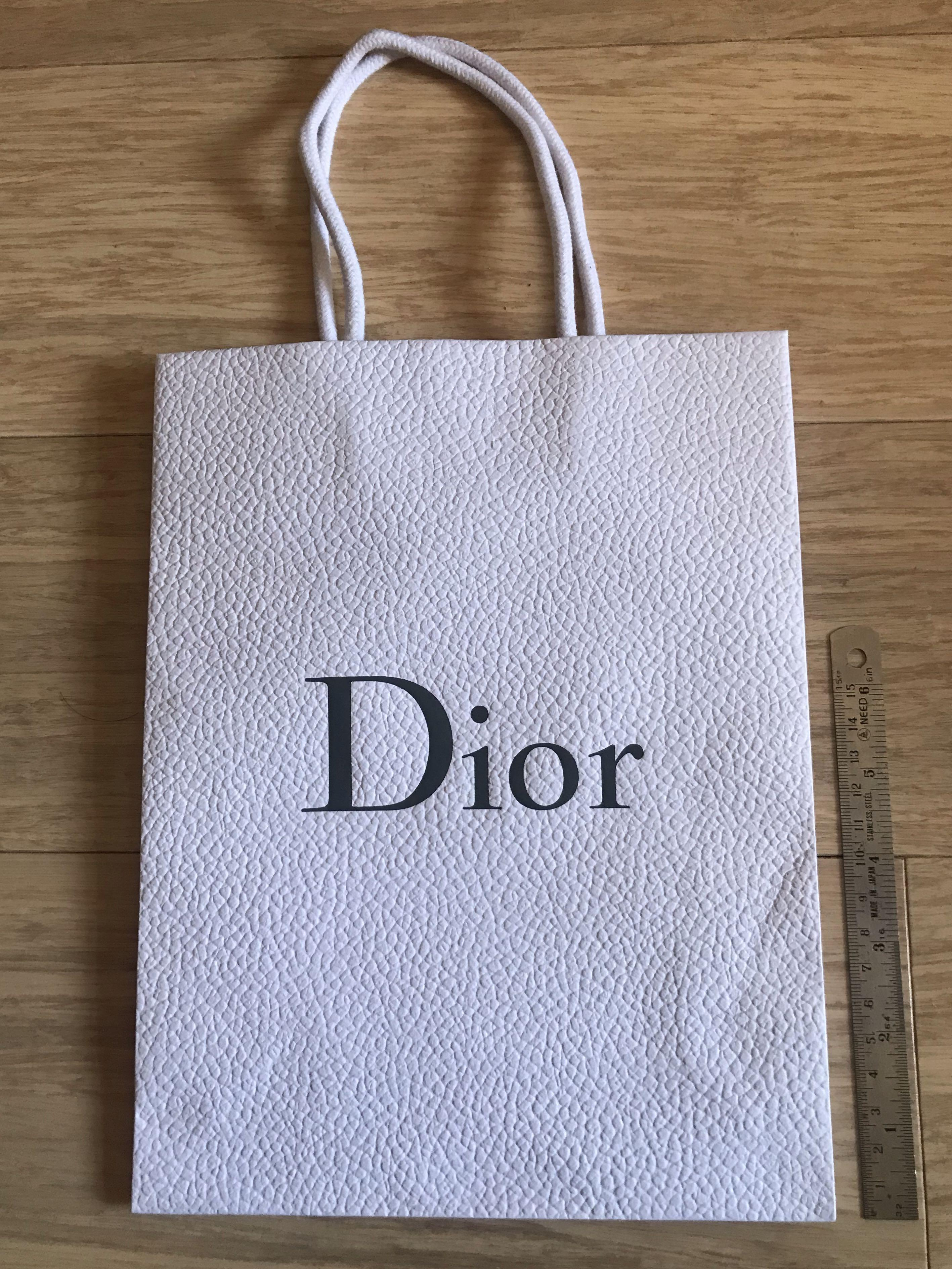 Dior paper bag (empty / as new - originally used for packaged wallet)