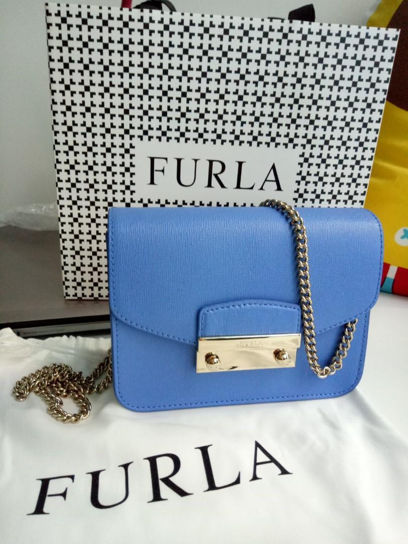 Furla Mini Blue Julia (Celeste c) Crossbody/shoulder bag