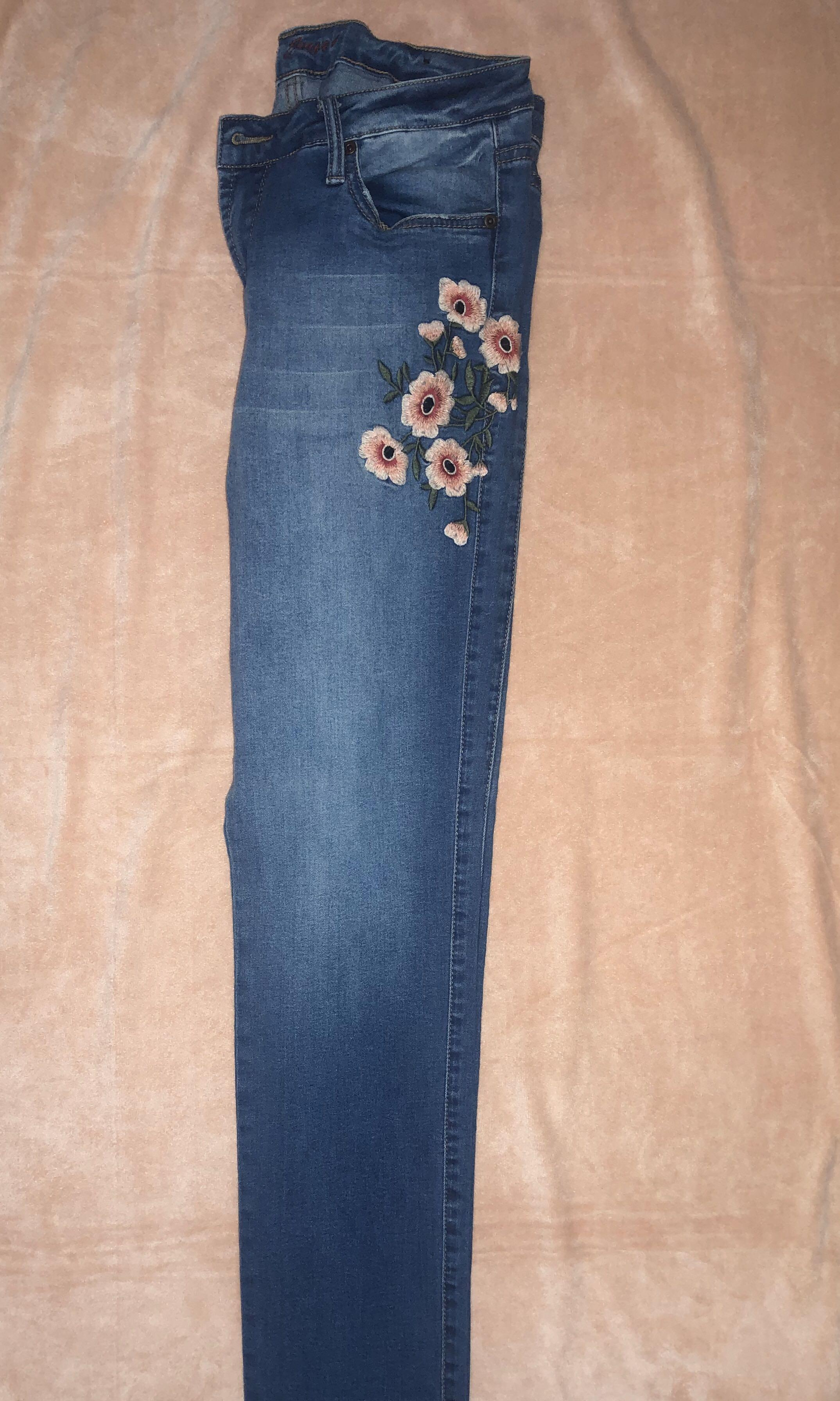 garage jeans with floral