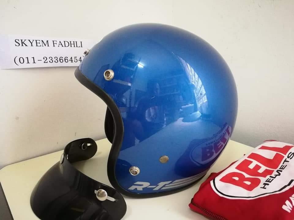 Helmet Bell RT Candy Blue Ori Usa