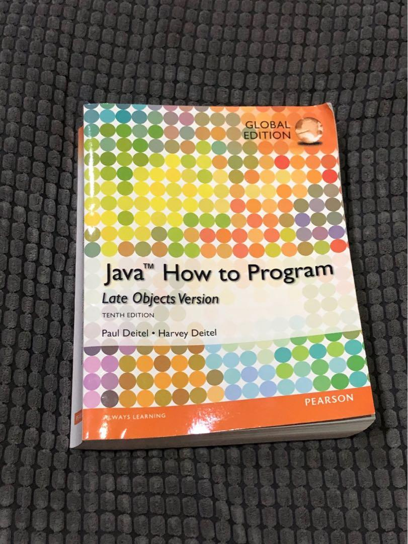 JAVA How to Program (tenth edition)