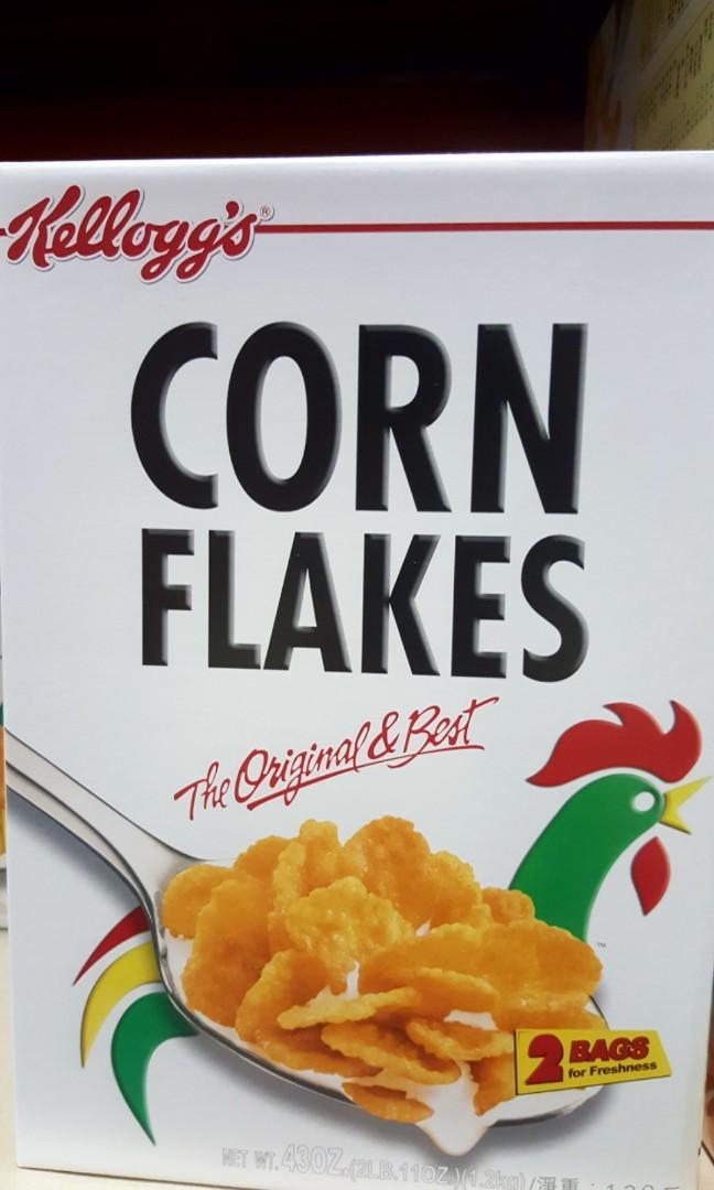 KELLOGG'S家樂氏 原味玉米早餐脆片 每包600公克X2包入-吉兒好市多COSTCO代購