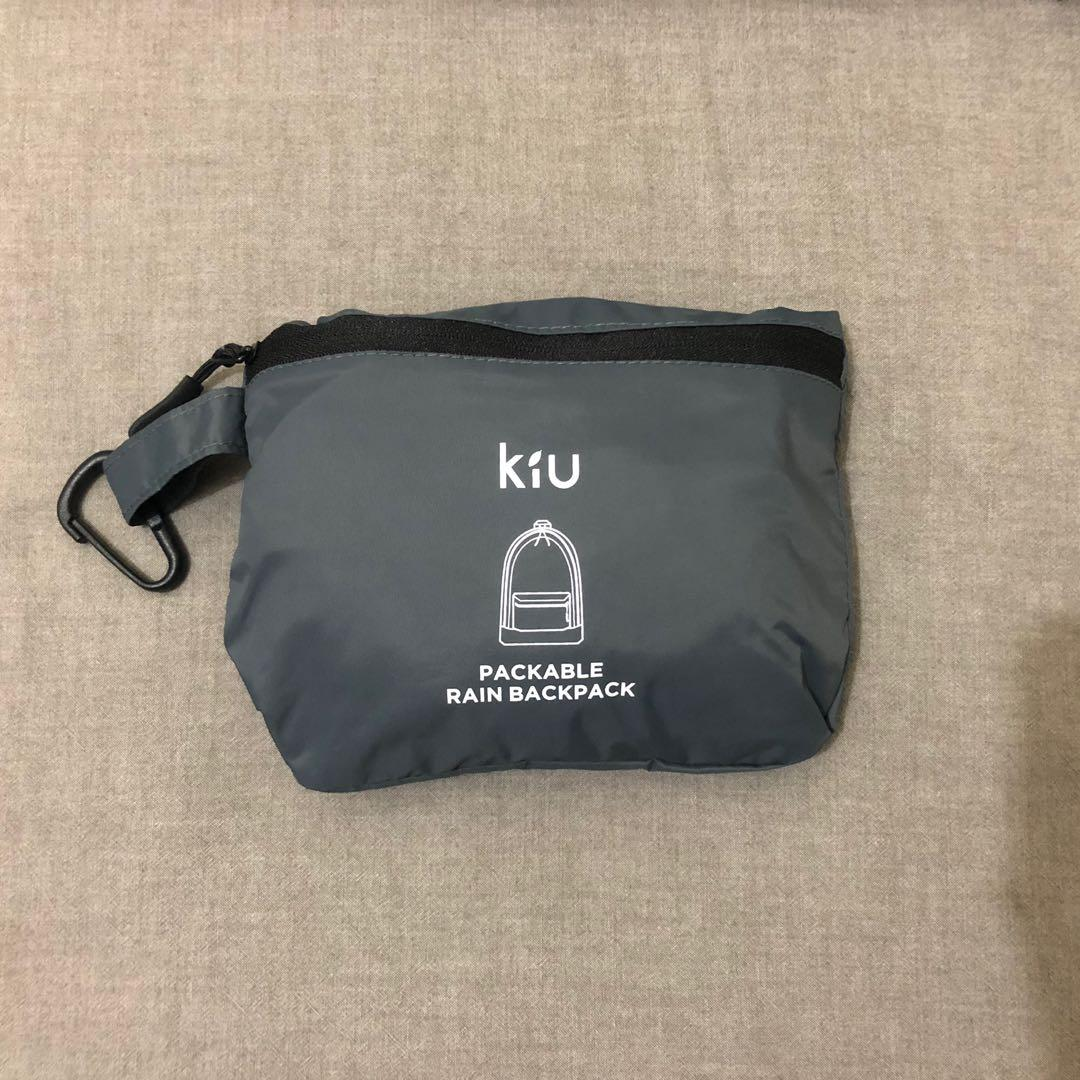 🛒.KIU_防水收納後背包(鐵灰)
