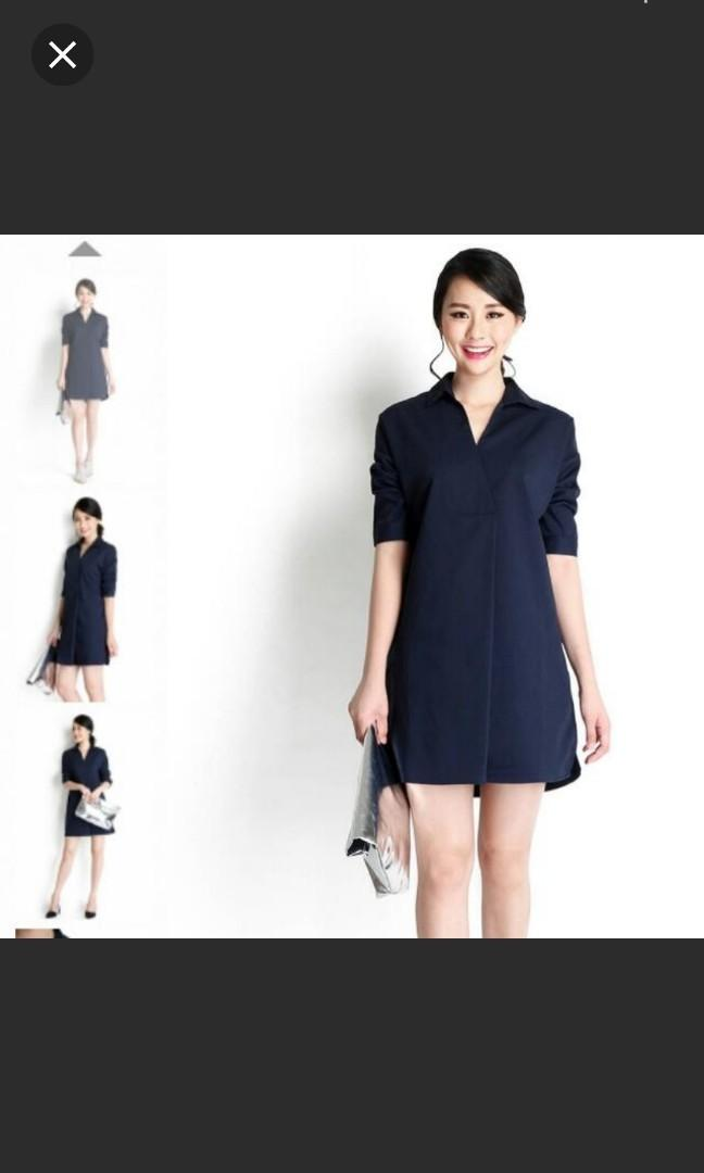 ❤ LP Movies Dress Navy