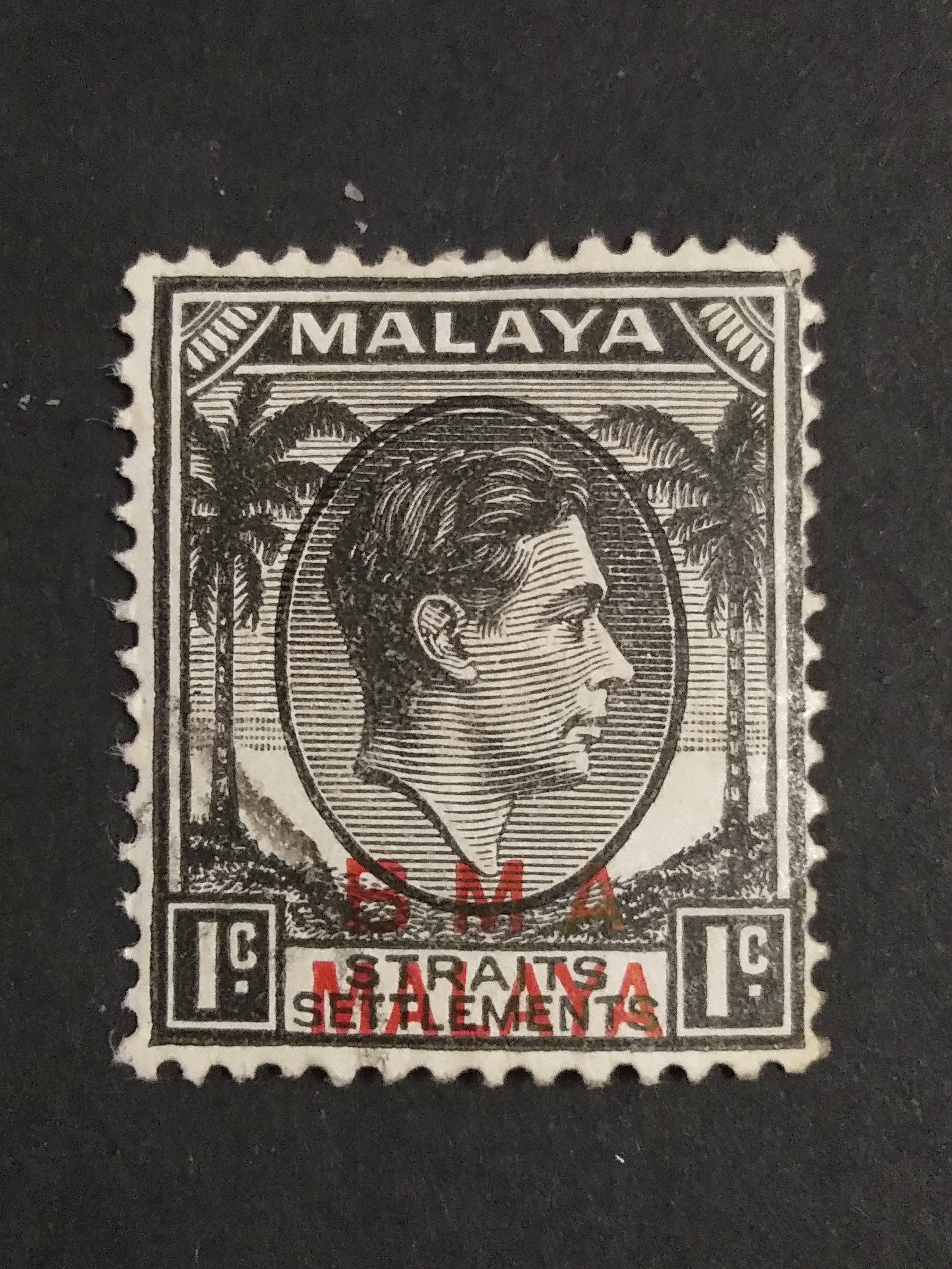 MALAYA/BMA/overprint/1 cent