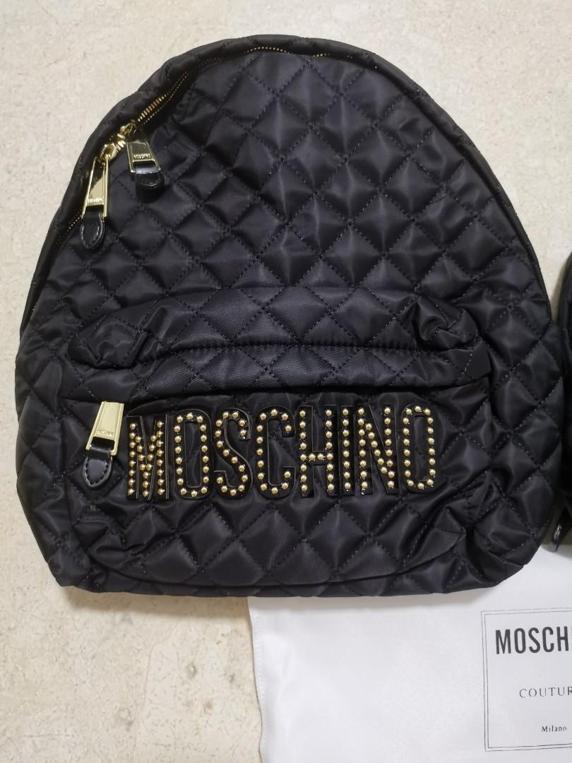 Moschino Backpack Black Large and Small