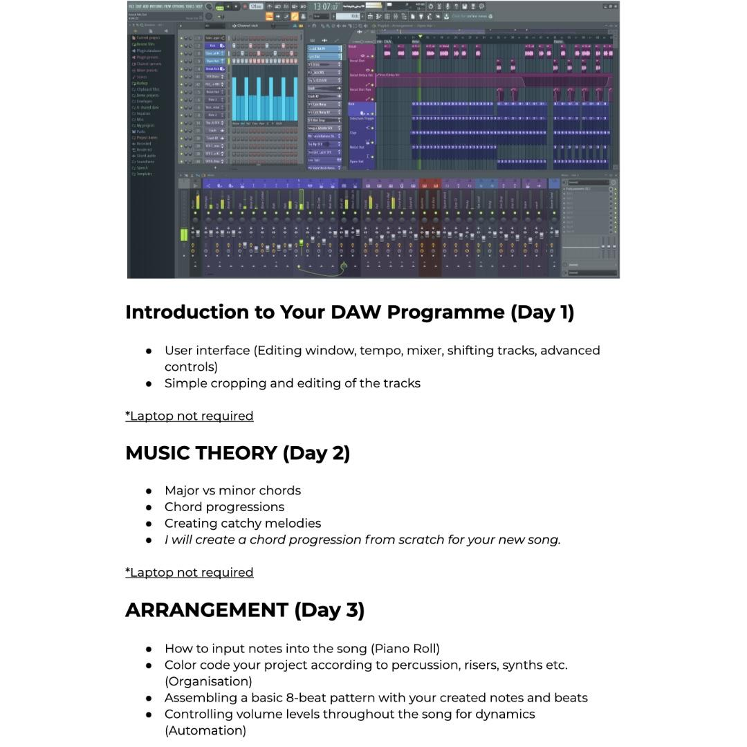 Music Production Lessons - First Lesson Is Free!