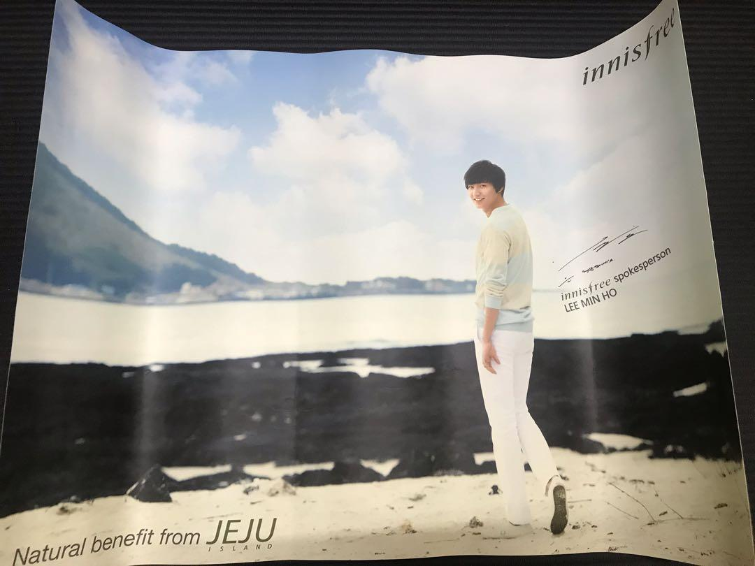 Original Lee Min Ho Innisfree poster from Korea (A3 size)