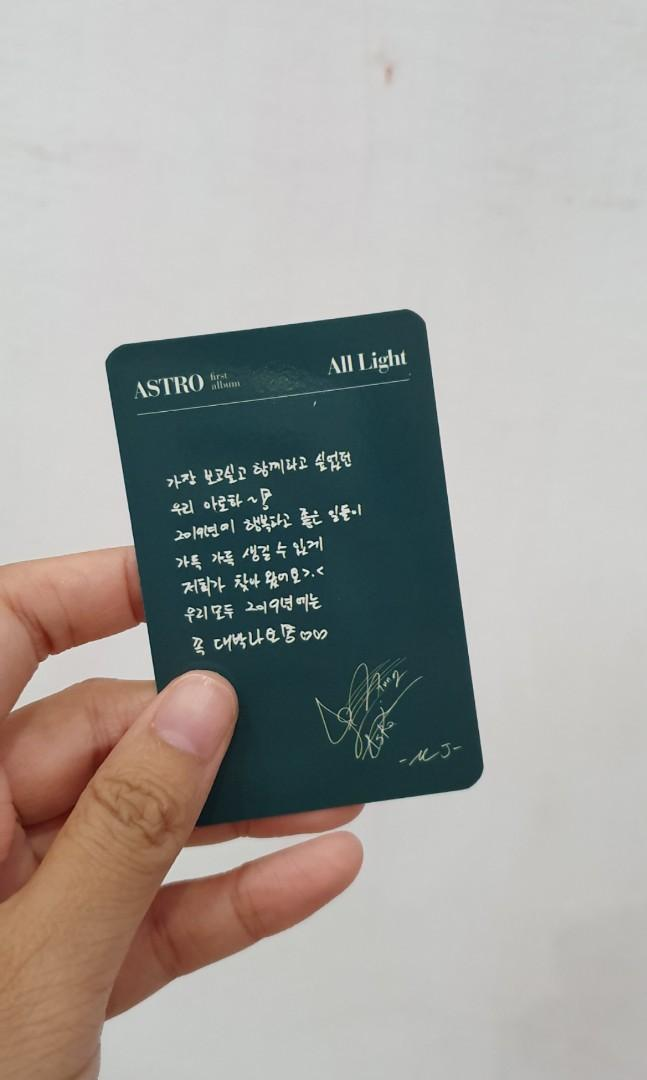 Photocard Astro : MJ ( with handwriting ) All Light Green ver.