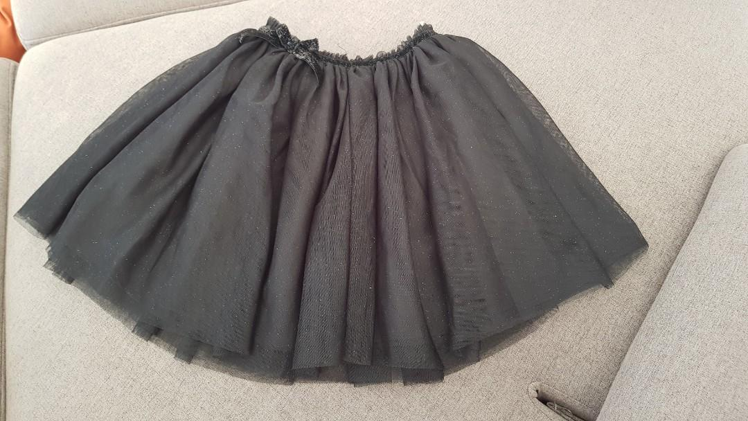 Pom pom  black skirt