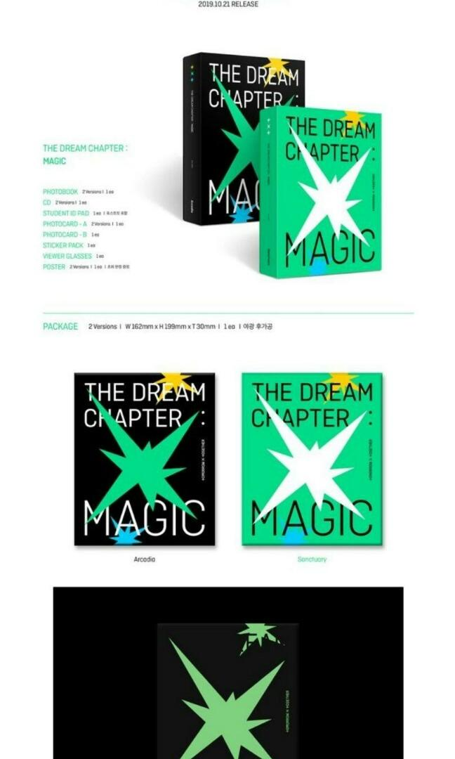 [PRE-ORDER-SEALED] TXT(TOMORROW X TOGRTHER) - THE DREAM CHAPTER: MAGIC