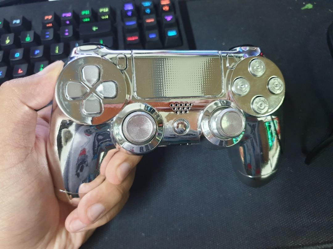 PS4 CUSTOMIZED CONTROLLER SILVER