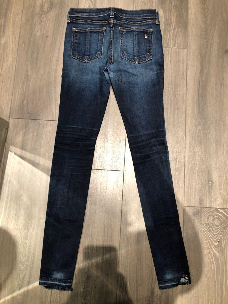Rag and bone skinny mid rise dark denim size 25 skinny