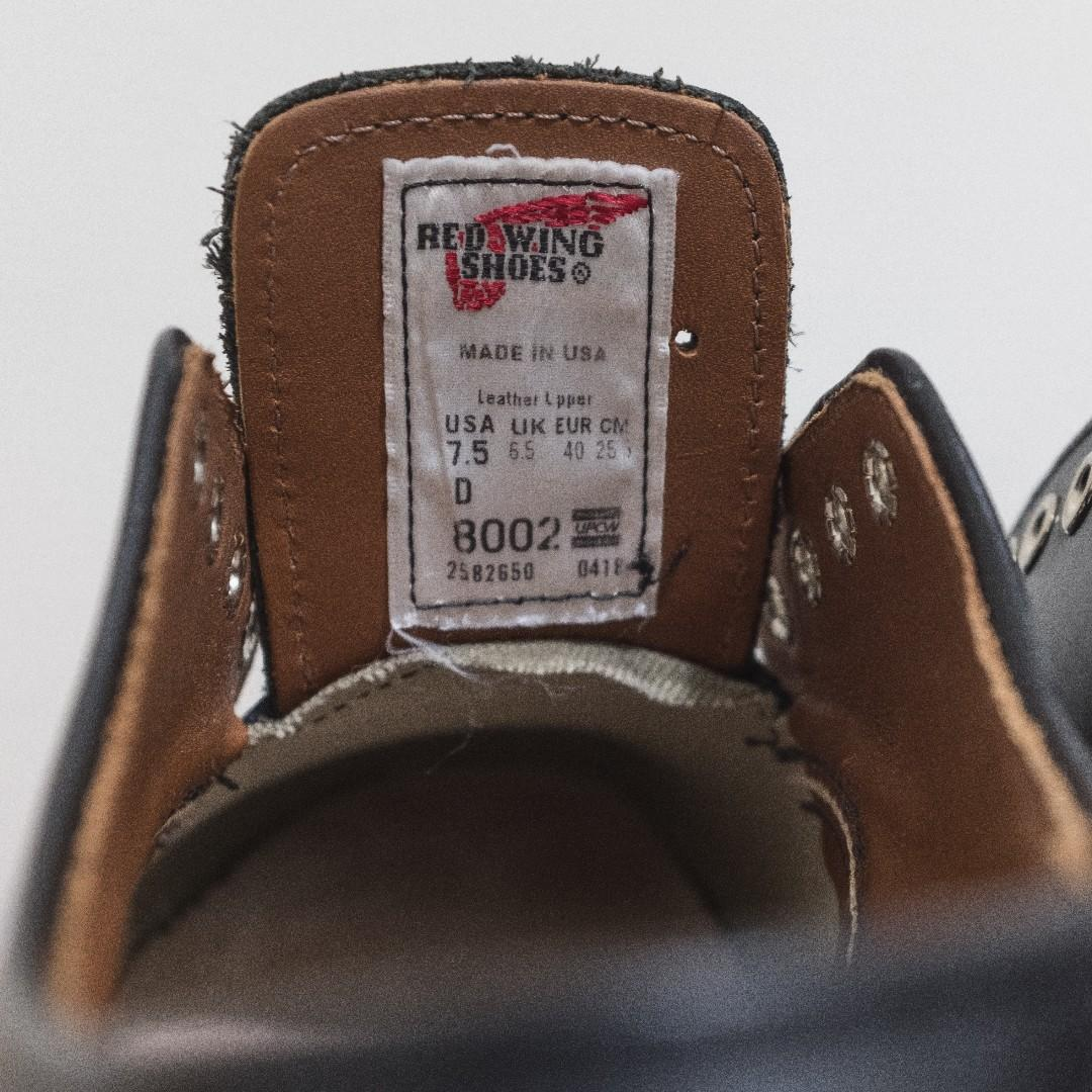 Red Wing 8002 7.5D FS 全新品