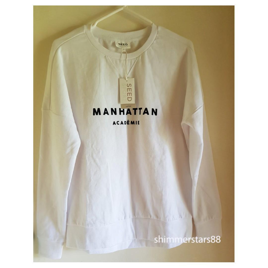 Seed Heritage 'Manhattan Academie' Crew Neck Sweater, RRP$79.95