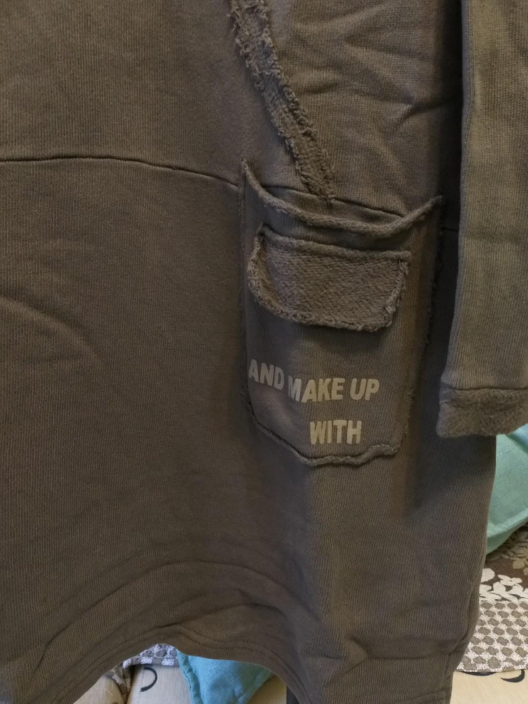👩💼《sen》水洗棉秋冬款長T。棉料比較緊密。新。$500