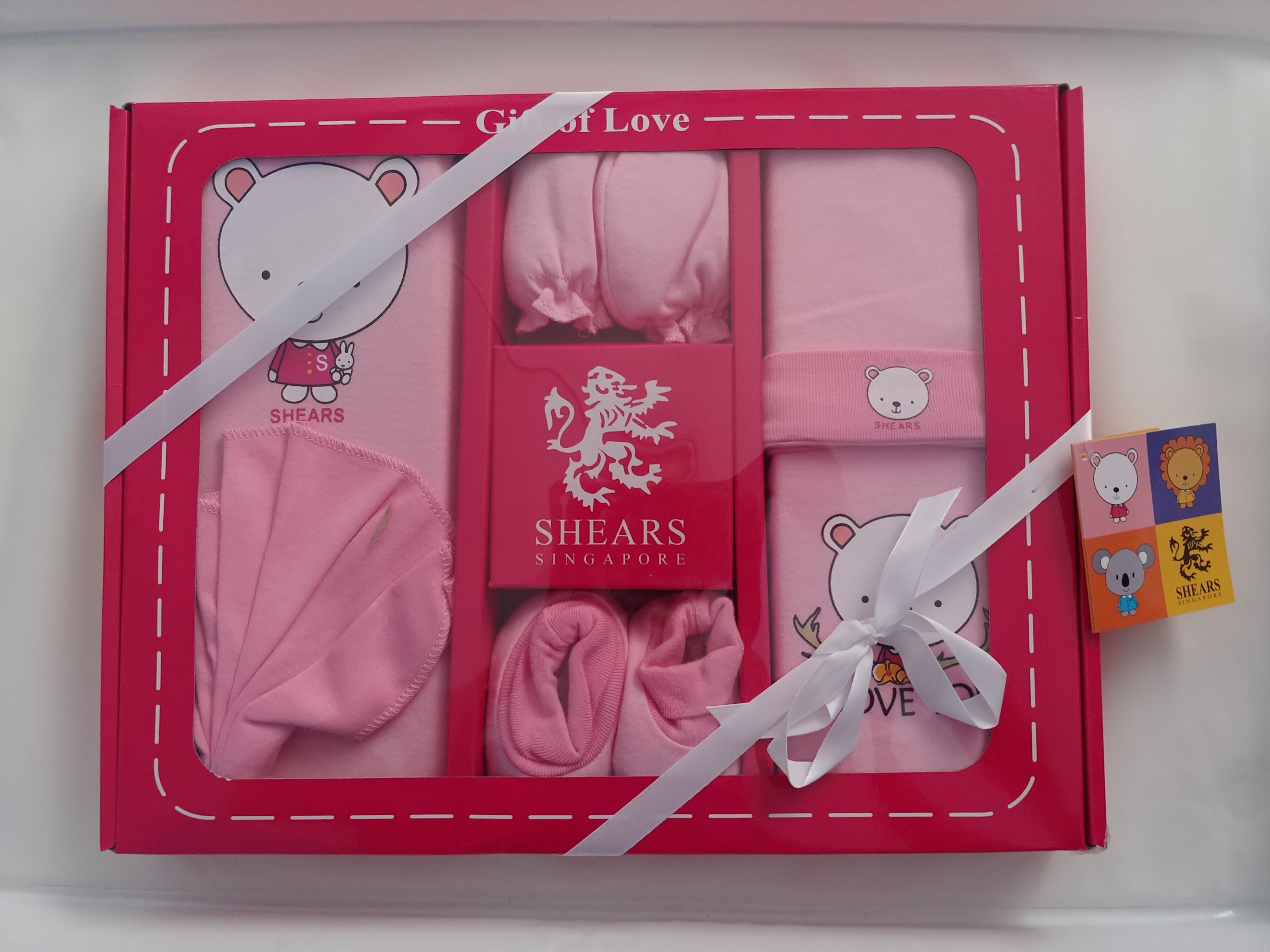 Shears Singapore 6pcs Baby Girl Gift Set