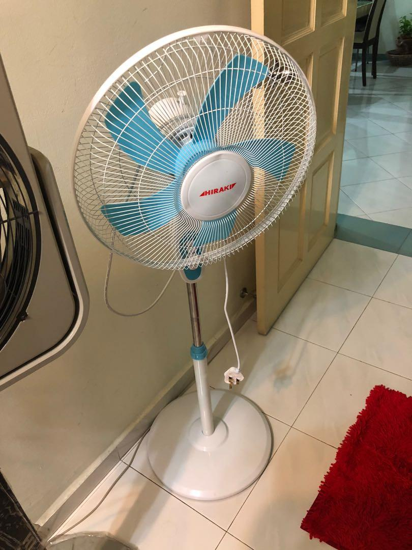 "(SPOILED)  HIRAKI STAND FAN 16"" (INCH) - 5BLADE, 3 SPEEDS - ( FS40-A520 ) WHITE"