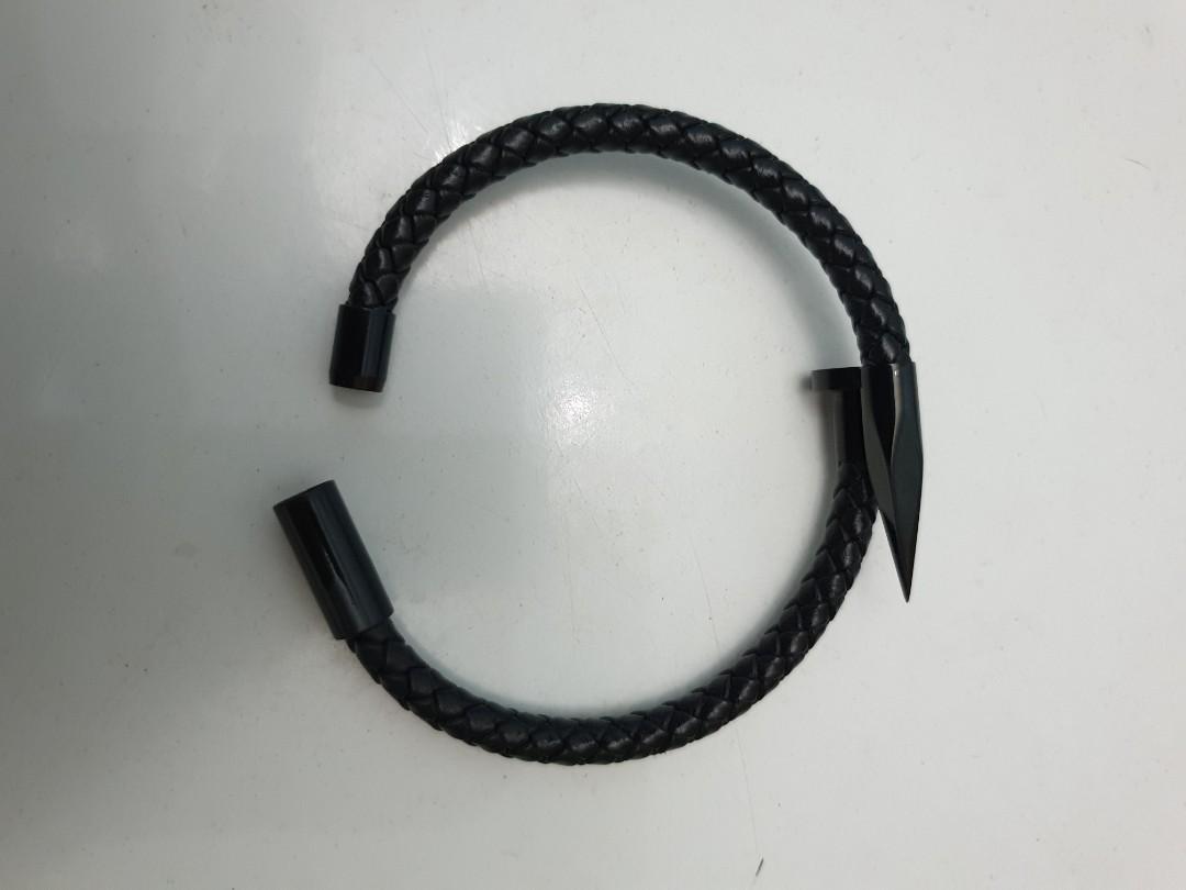 Stainless Steel Nail Bracelet Men